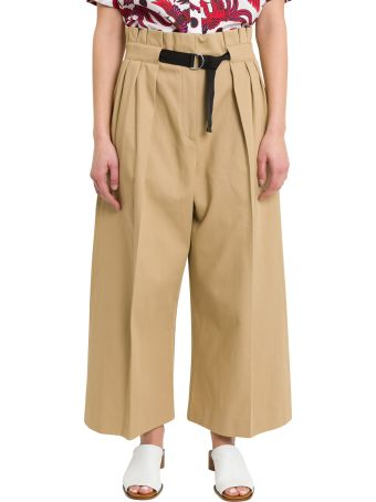 Kenzo Culotte Skirt-effect Flared Trousers