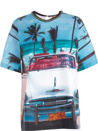 N.21 Car Printed T-shirt