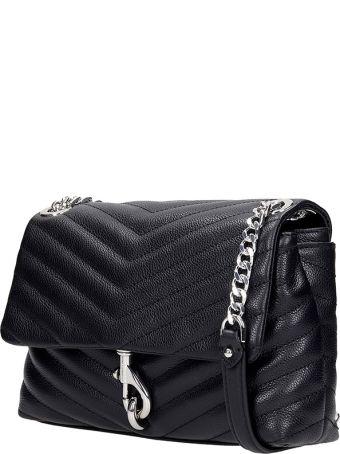 Rebecca Minkoff Edie Xbody Shoulder Bag In Black Leather