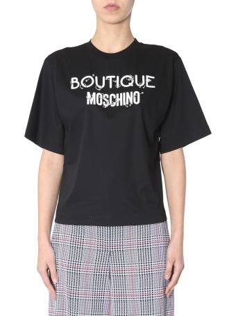 Boutique Moschino Crew Neck T-shirt