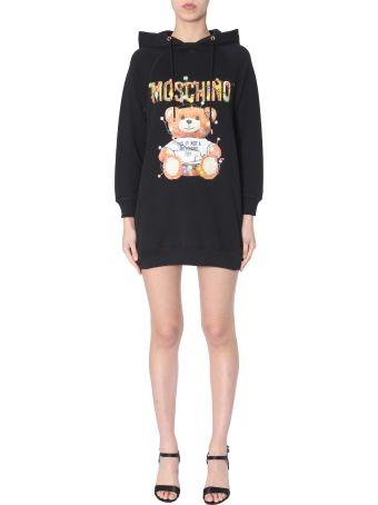 Moschino Hooded Fleece Dress
