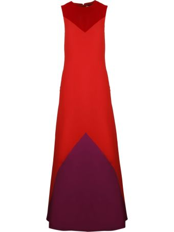 Givenchy Graphic Velvet Details Evening Dress