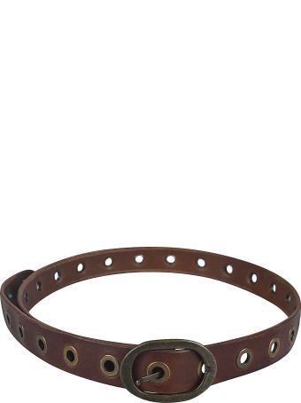 Massimo Alba Eyelet Applique Belt