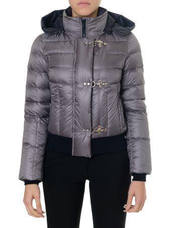 Fay Grey Jacket In Polyamide