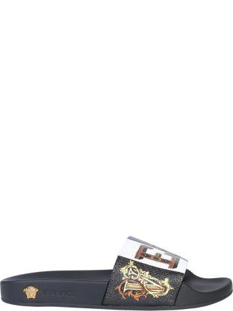 Versace Zeus Slide Print Sandal