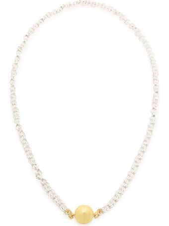 Timeless Pearly Chain Necklace With Magnetic Clasp