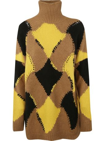 Ermanno Scervino Geometric Patterned Sweater
