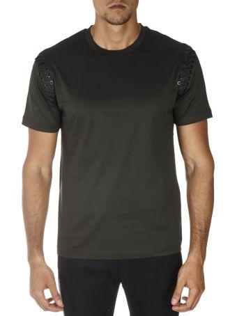 Les Hommes Green Cotton T-shirt