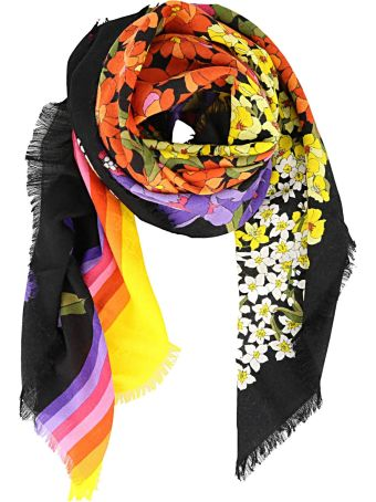 Gucci Degrade' Flowers Print Scarf