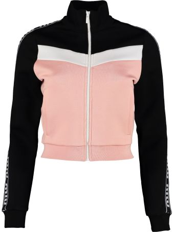 Miu Miu Logoed Side Bands Sweatshirt