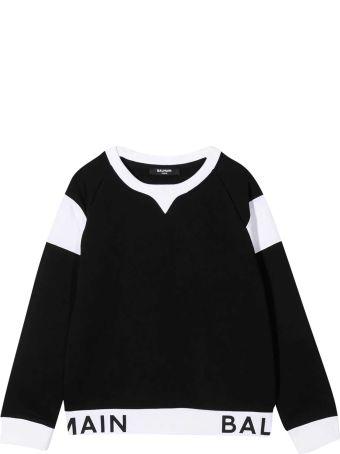 Balmain Teen Black Sweatshirt