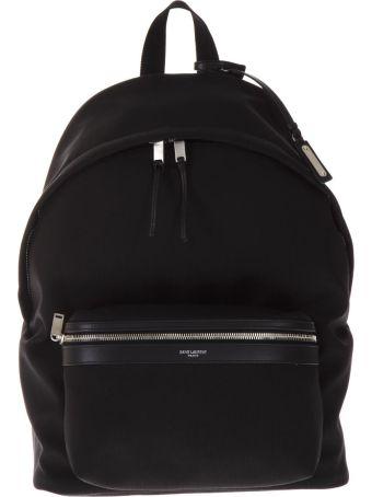 Saint Laurent City Black Nylon & Leather Backpack