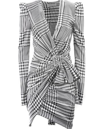 Alexandre Vauthier Black And White Silk Blend Dress