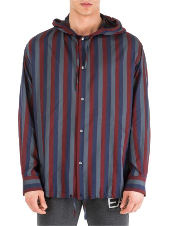 Emporio Armani  Long Sleeve Shirt Dress Shirt Over Fit