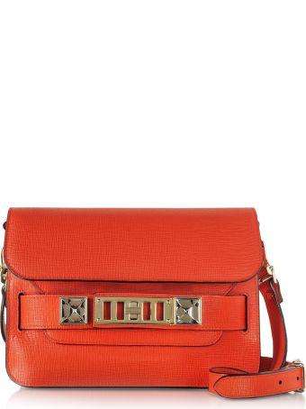 Proenza Schouler Kappa Red New Linosa Ps11 Mini Classic Shoulder Bag