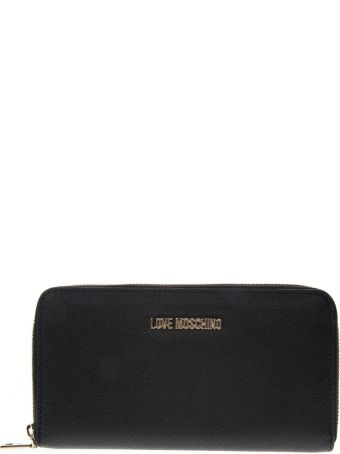Love Moschino Black Faux Leather Wallet