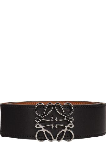Loewe Black Leather Belt