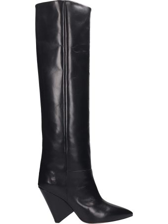 Isabel Marant Lokyo Boots In Black Leather