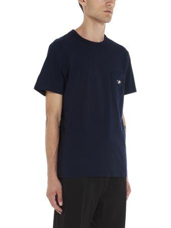 Maison Kitsuné 'tricolor Fox Patch' T-shirt