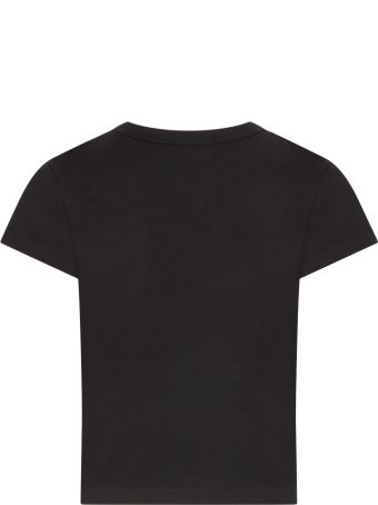 Givenchy Black T-shirt With Gold Logo For Girl