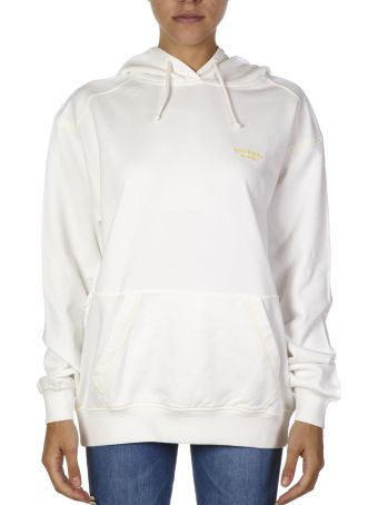 Acne Studios White Cotton Oversized Hoodie