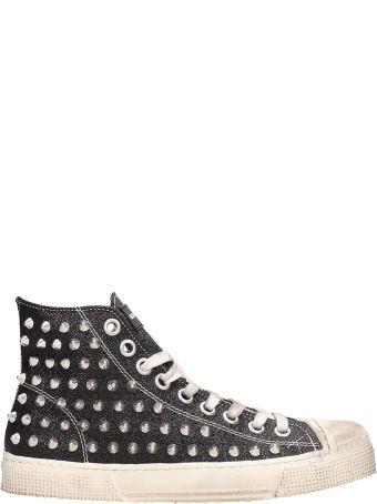 Gienchi Black Glitter Jean Michel Sneakers