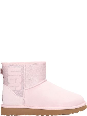 UGG Classic Mini Boots In Pink Shearling