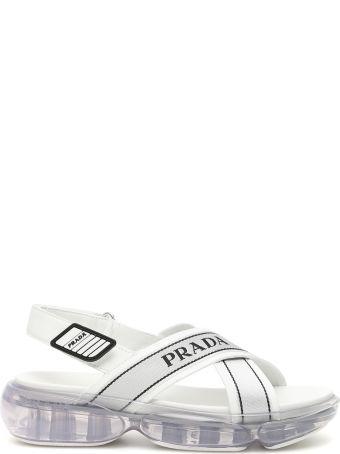 Prada Cloudbust Logo Sandals