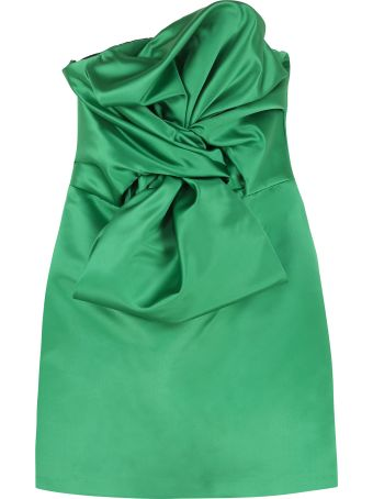 Giuseppe di Morabito Satin Bustier Dress With Maxi Bow