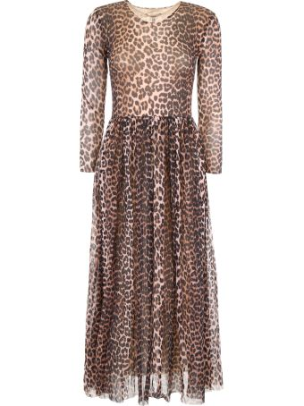 Ganni Leopard-printed Dress