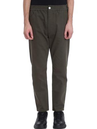 Bonsai Green Cotton Chino Pants