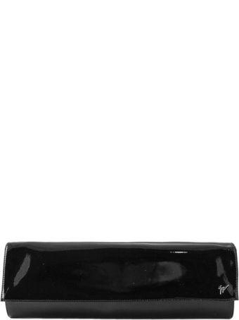 Giuseppe Zanotti Black Leather Logo Clutch
