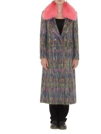 Giada Benincasa Arabella Coat With Fur Collar
