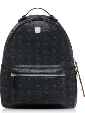 MCM Black/cognac Visetos Stark Backpack