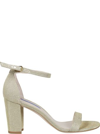 Stuart Weitzman Nearly Nude Embellished Sandals