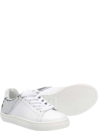Balmain White Teen Sneakers