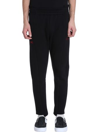 OMC Black Cotton Trousers