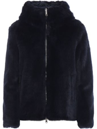 Colmar Blue Faux Fur Jacket