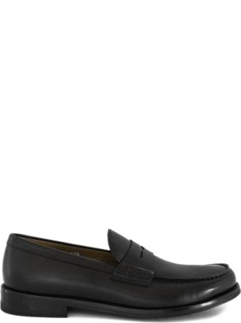 Doucal's Black Leather Loafer.
