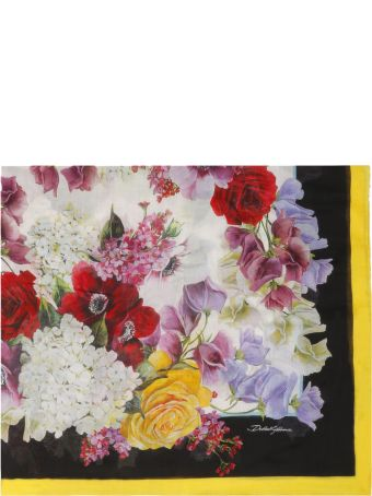 Dolce & Gabbana Hydrangea Print Scarf