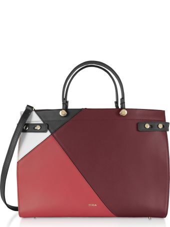 Furla Lady M Color Block Large Tote Bag