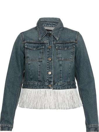 Alanui Hawaiian Cropped Jeans Jacket
