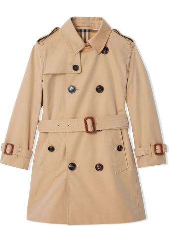 Burberry Beige Cotton Trench Coat