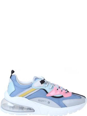D.A.T.E. Aura Dolmias Sneakers In Multicolor Technical Fabric