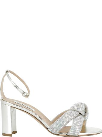 Ninalilou Platino Leather/glitter Sandals