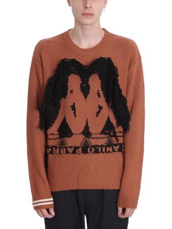 Danilo Paura x Kappa Brown Wool Sweater