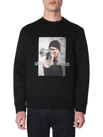 Neil Barrett Gangsta 01 / Brutus Printed Sweatshirt