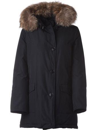 Woolrich Dark Blue Padded Coat