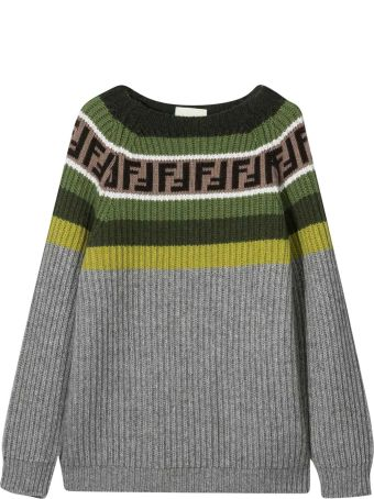 Fendi Sweater Gray Teen