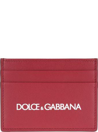Dolce & Gabbana Dolce&gabbana Logo Print Card Holder